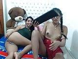 Two latinas on cam