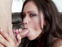 German beauty Mom seduce young boy to fuck her