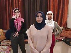 3 Arab girls with an escort