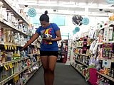 College student candid shopper