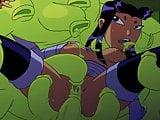 Teen Titans Blackfire : Sex Scene