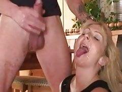 Amateur - Blond Mature Creampie and Cum Lickup