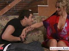 Beauty mom Julia Ann gets big tits jizzed