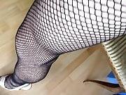 walking in fishnets