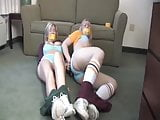 Hot bitches undressed, bound and gagged