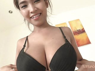 Tits Thai Pornstar video: Big Asian knockers bouncing while fucking