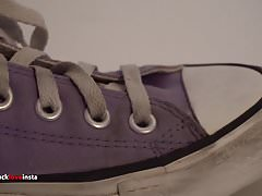Los zapatos de mi hermana: Converse low purple I 4K