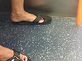 BBW MILF Latina's Feet in Flip Flops