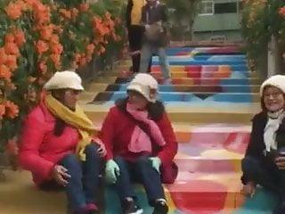 Outdoor Mature Doctor video: three polio women