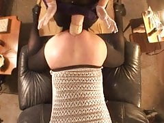 fisted & ass fucked with large strapon with suction prolapse