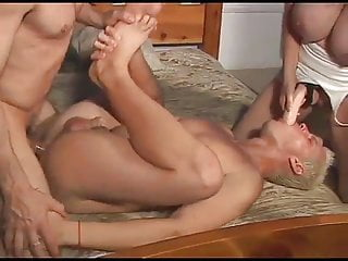 Blonde Big Cock Big Ass video: Hardcore blonde and her perverted bisexual boyfriends