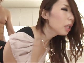 Asian chick fully clothed sex