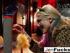 Jen Hexxx Helps Leya The Cat Do A Milk Enema!