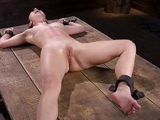Bdsm Spanking Skinny video: Bound in the Dungeon