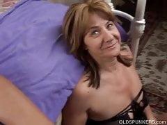 Shy mature amateur enjoys a sticky facial cumshot