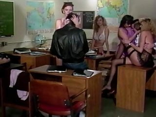Vintage Teen College video: XXXJox Lauren Brice  Mai Lin Deep Throat In Classroom