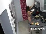 Czech nudist in the kitchen
