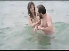 Spanish film nude actress at the beach