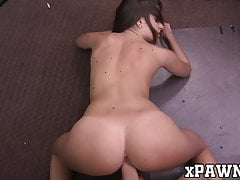 Hottie With A Fine Ass Pounded For Sweet Cash In Pawnshop