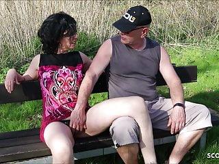 Cuckold Outdoor Milf video: Cuckold Watch his German Wife Fuck Stranger and eat Sperm