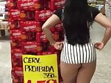 brazilian big butt flashing in walmart