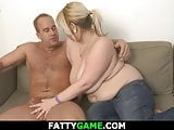 Chubby blond takes it from behind