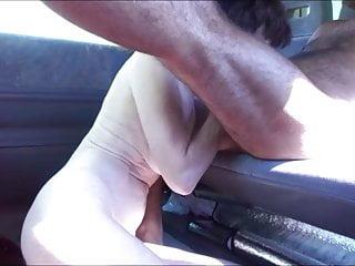 Amateur Hardcore video: Competition of jouissance in van
