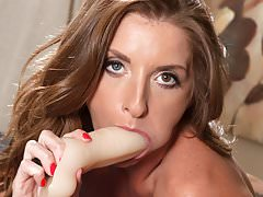Horny Silvia Saige having fun with a toy
