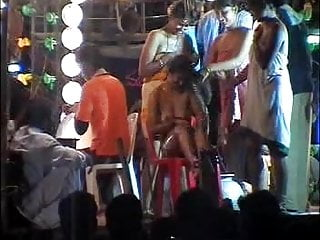 Indian Striptease video: Shamless dance troupe in Andhra Pradesh India