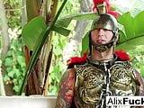 Viking Alix Lynx kidnaps and fucks Roman Chad