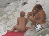 THREE WOMEN NAKED AT NUDIST BEACH