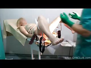 Bdsm Bondage Doctor video: Blonde at the gynecologist