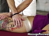 Oily lady Gina Valentina got her hairy love tunnel smashed
