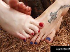 Curvy BBW's Angelina Castro & Virgo Peridot prega una BBC!