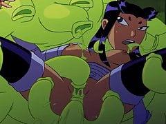 Teen Titans Blackfire: Scène de sexe