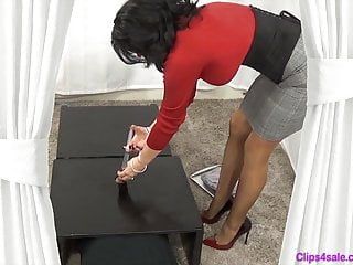 Femdom Footjob High Heels video: Cum Under Mommys Heel 12