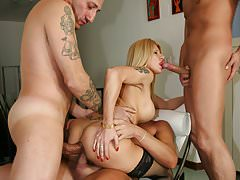 3 cocks to enjoy: Cristal Jolie! Directed by Roby Bianchi