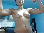 muscular girl topless