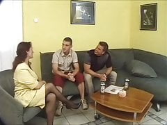 Hot German Mom fucks sons friends