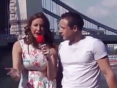Female Reporter Interview a Young Guy they end up having Sex