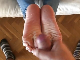 Cum on dirty soles