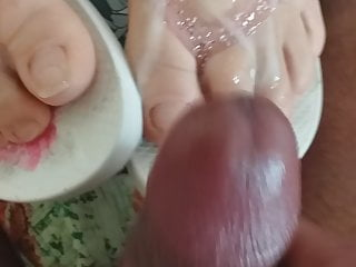 Bbw Foot Fetish Footjob video: Fuck wife then cum on her feet
