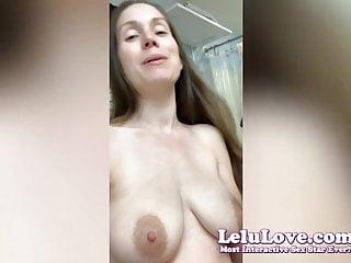 Pov Homemade Hd Videos video: Lelu Love-VLOG: Dressing Room Curly Hair Onesie Butt Flap
