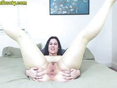 PAWG GREEN EYEDS FISHNETBODYSUIT ASSHOLE WORSHIP (HD)