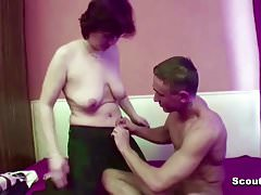 Hairy Mom Seduce Step-Son to Fuck her Anal When Dad away