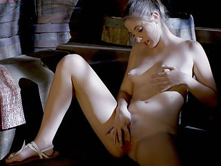 Babes Cosplay Blonds video: Younger blonde maid has some me time