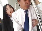 Sensual long Tease and HJ on Train (censored)