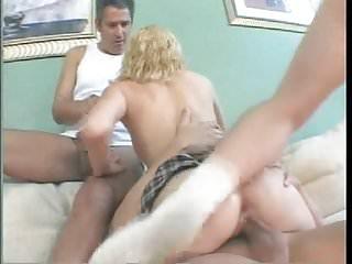 .sexy girl get fucked b three guys.