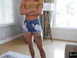 Bratty Sis - Hot Latina Gina Valentina Grinds Cock For Cash