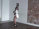 Sexy girl in shorts dancing